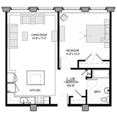 One Bedroom U2013 E Style. View Floor Plan